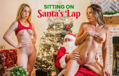 Nikole Nash, Silvia Saige – Auf Weihnachtsmannrunde sitzen – Momsteachsex (NubilesNetwork)